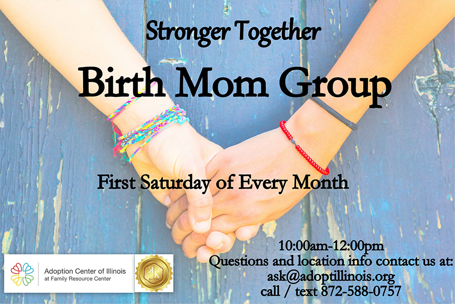 Promotional graphic for the Birth Mom Group