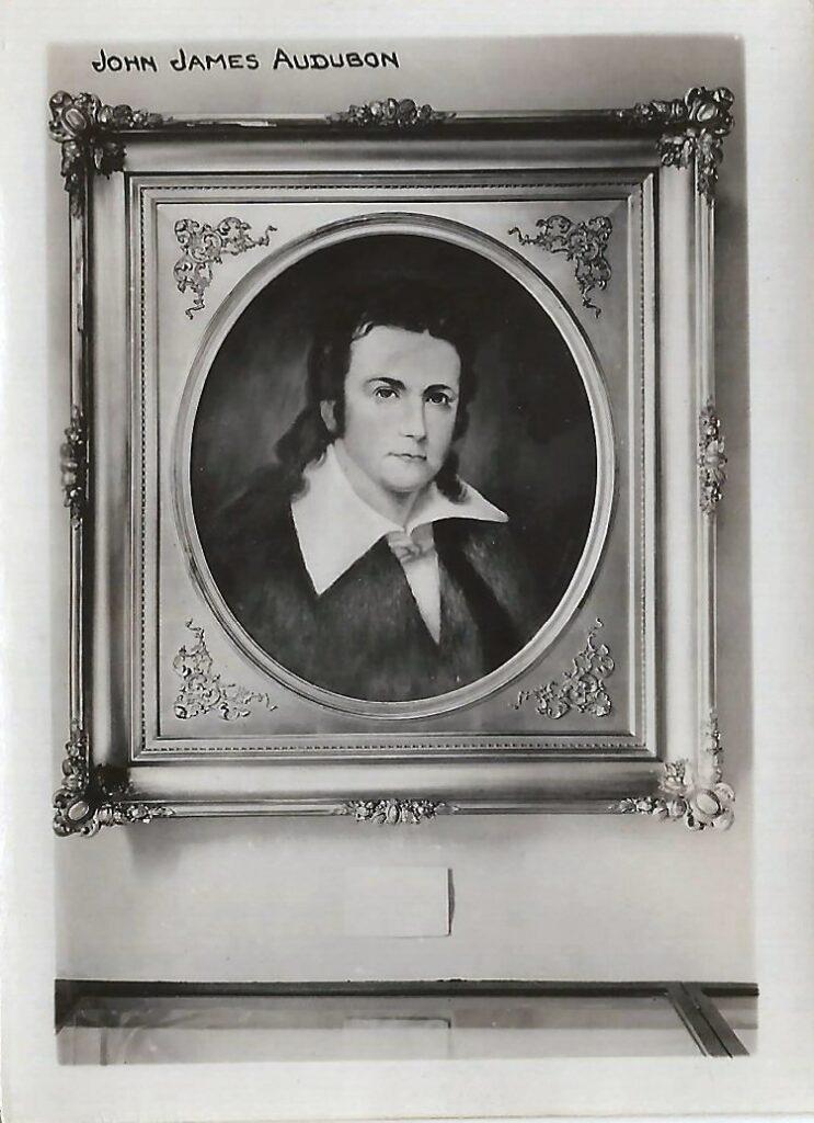 Photograph of portrait of John James Audubon by Lida Williams