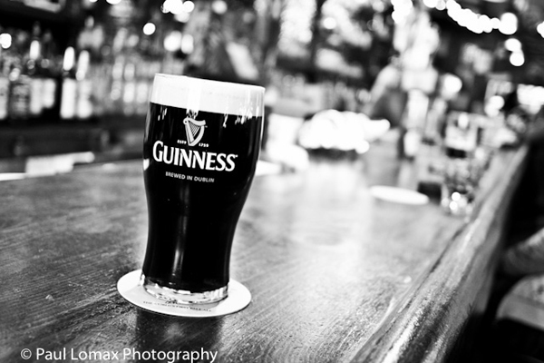 Guinness Pint Piper's Kilt of Inwood B&W