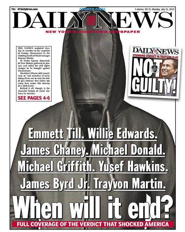 Trayvon Martin - New York Daily News Cover