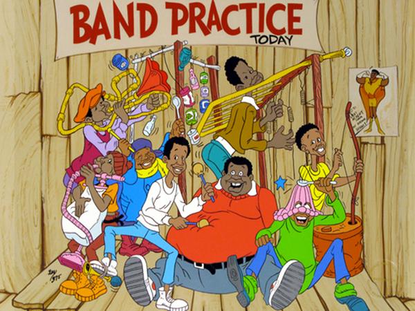 Funky Turns 40 - Black Animated Art