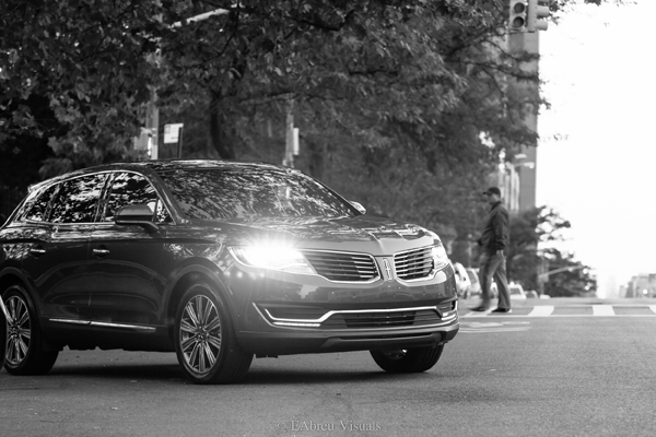 2016 Lincoln MKX - Black And White - Bus Stop