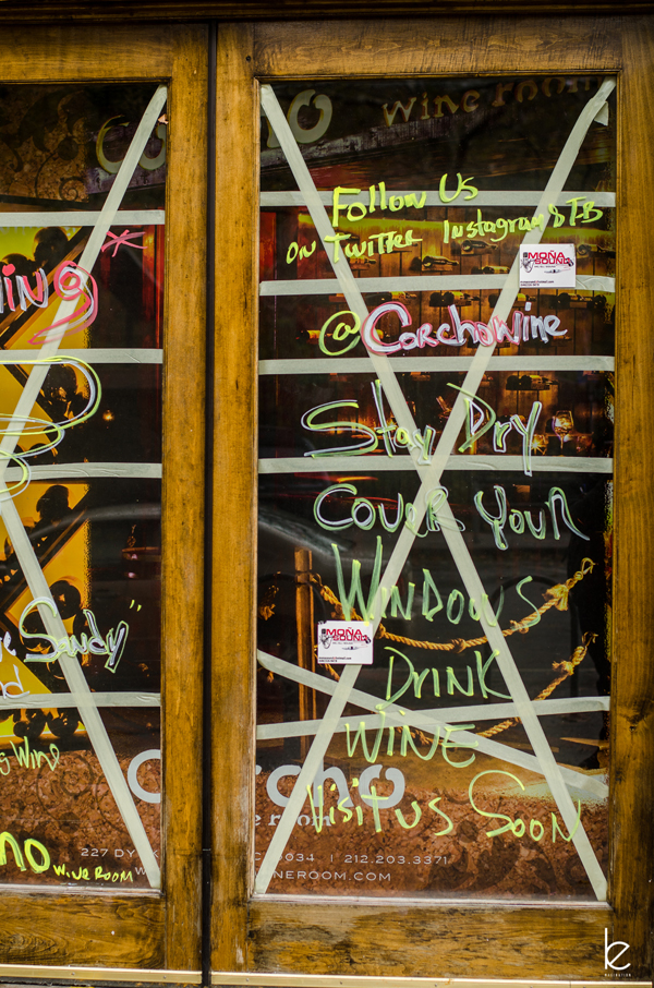 Hurricane Sandy - Corcho Wine Room