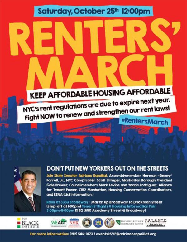 Housing March Harlem Washington Heights