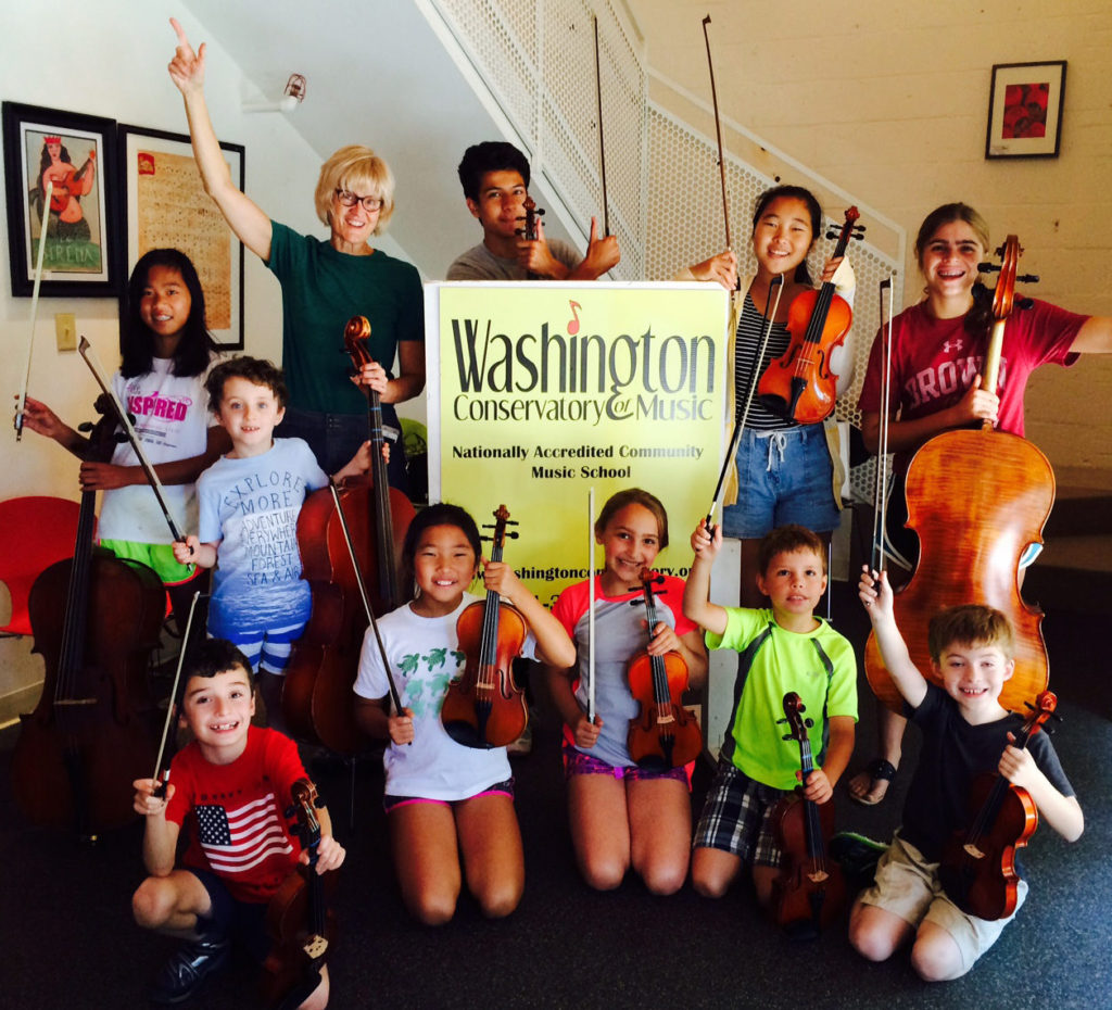 strings summer camp students