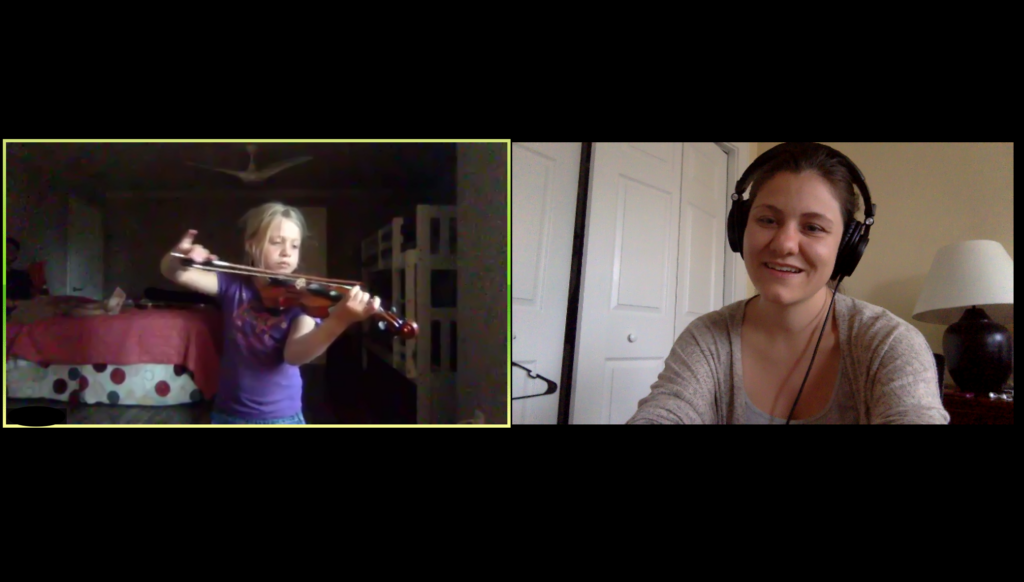 online violin lesson