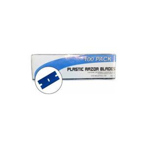 Plastic Razor Blades 100 Pack