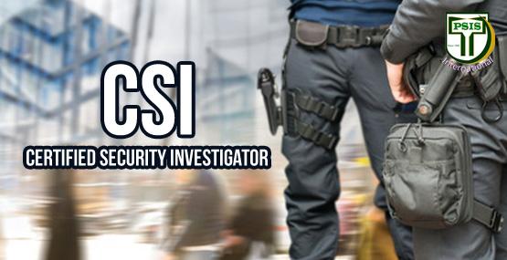 TEMPLATE TRAININSCertified Security Investigator (CSI)