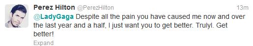 Lady Gaga v Perez Hilton Twitter Fight 14