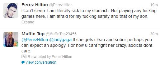 Lady Gaga v Perez Hilton Twitter Fight 15