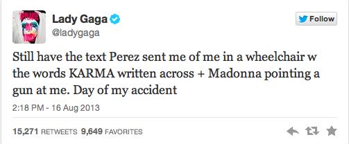 Lady Gaga v Perez Hilton Twitter Fight 2