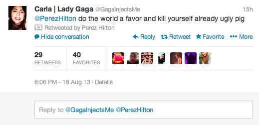 Lady Gaga v Perez Hilton Twitter Fight 8