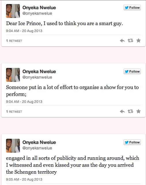 Onyeka Nwelue Calls for Lynching of Ice Prince 5