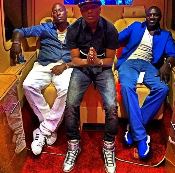 Wizkid Tyrese and Akon