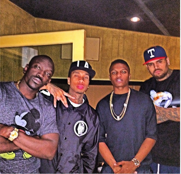 Wizkid with Chris Brown, Tyga