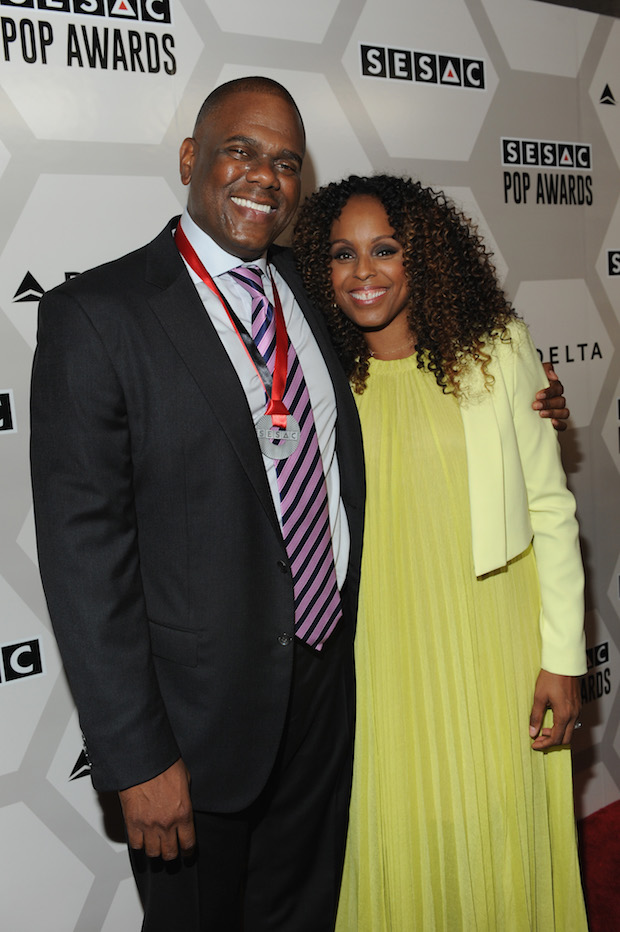 NEW YORK, NY - MAY 04:  Jon Platt, Warner/Chappell Music President of North America and singer-songwriter Angela Hunte attend the 2015 SESAC Pop Music Awards at New York Public Library on May 4, 2015 in New York City.  (Photo by Shawn Ehlers/Getty Images for SESAC) Jon Platt;Angela Hunte