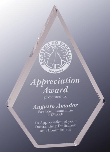 Clear Diamond Acrylic Award BAC033