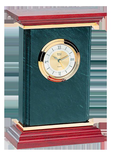 Q248-Quantum Clock - Marble and rosewood
