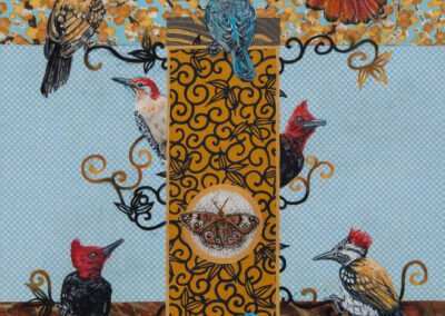 woodpecker, humming-bird, oil, moth, mixed-media, painting-for-sale, wall-art