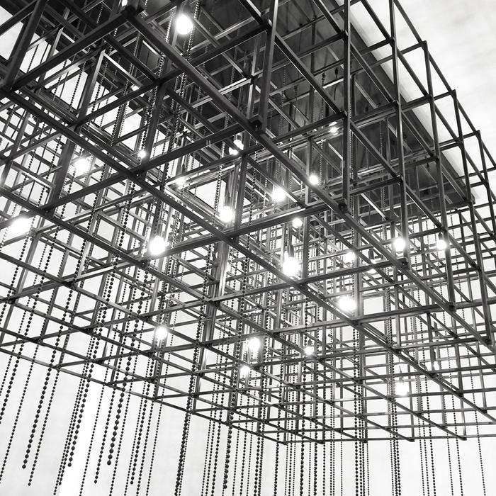 angular industrial lighting fixture