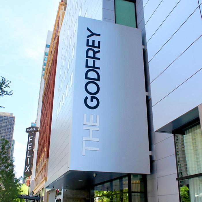 The Godfrey exterior sign
