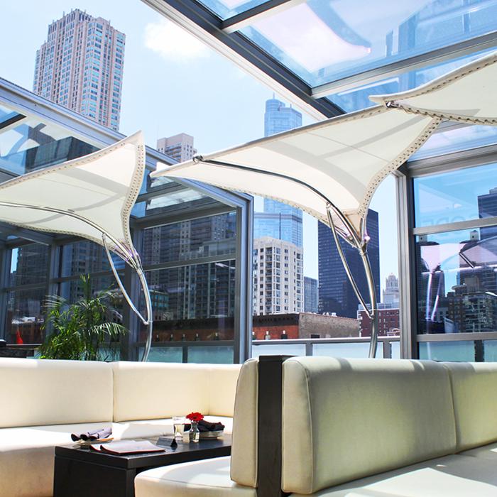 Indoor/outdoor lounge space