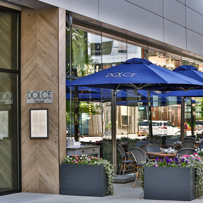 Dolce Italian outdoor eating space