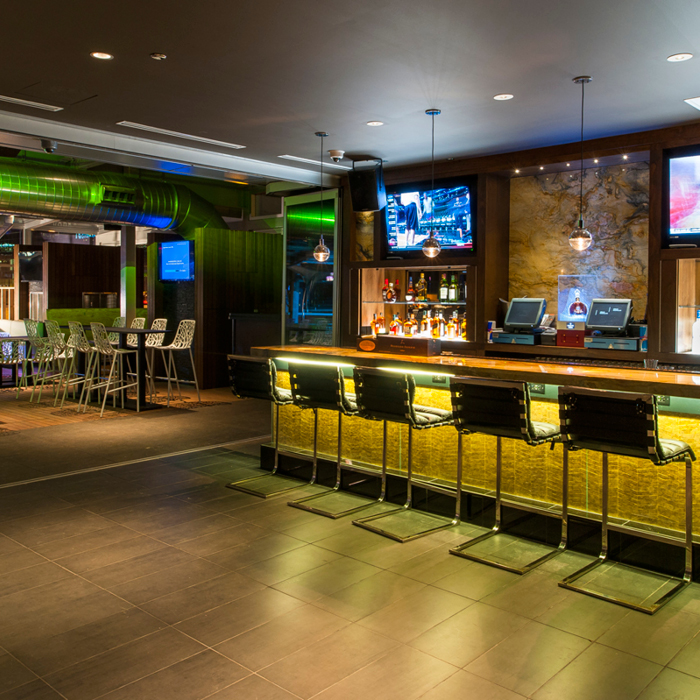 Sports bar dining space