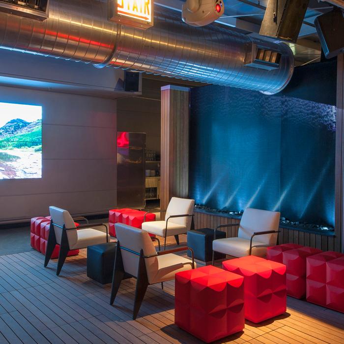 Modern lobby space