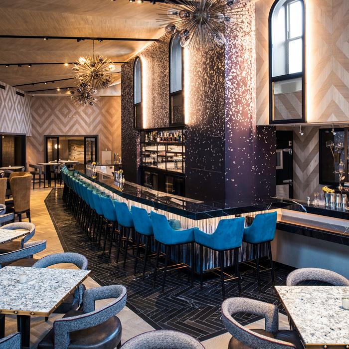 Elegant bar seating