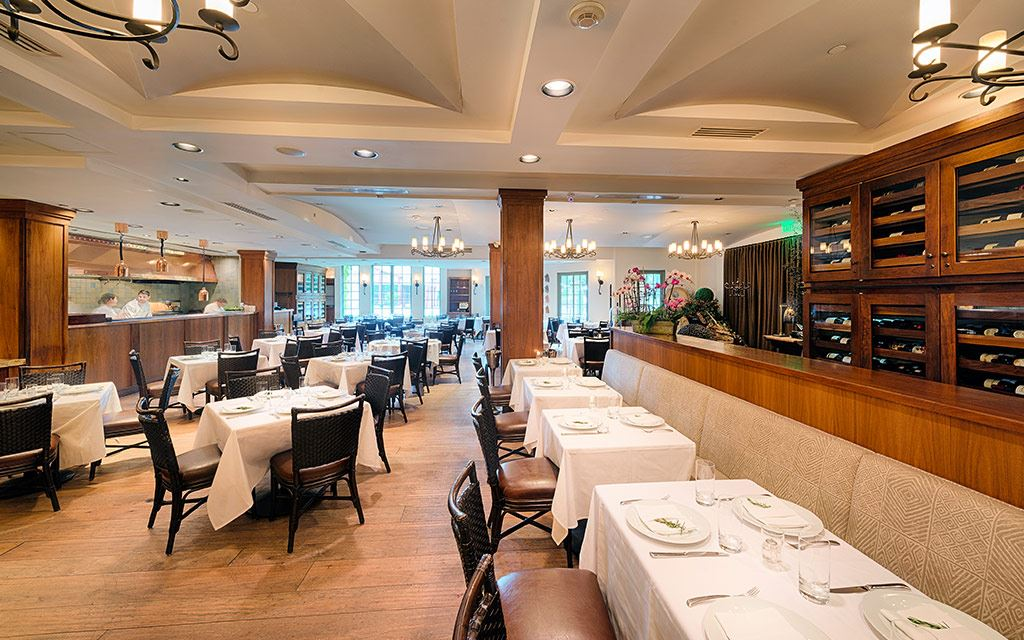 Indoor fine-dining space