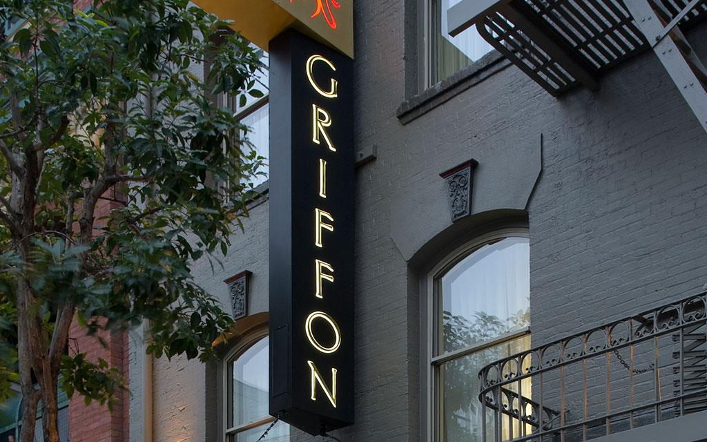Griffon Hotel sign