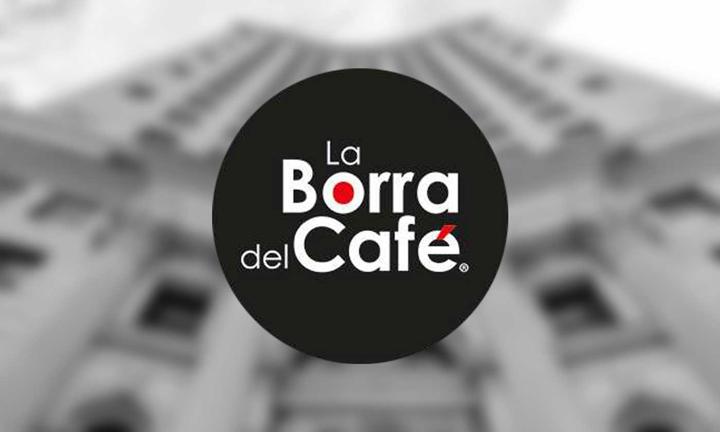 La Borra Del Café Chicago Logo overlaid on Chicago building
