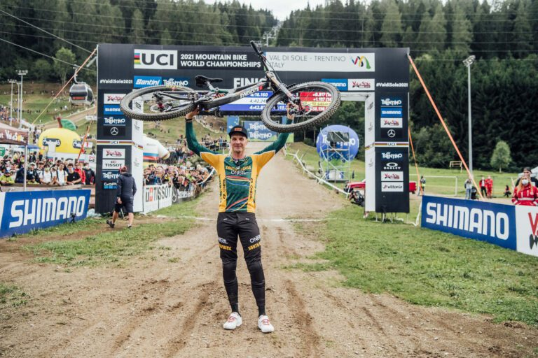 History Made at UCI MTB World Champs in Val Di Sole! Greg Minnaar Crowned World Champion Again!