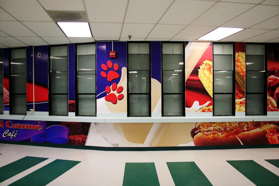 Las Vegas School graphic wall wrap
