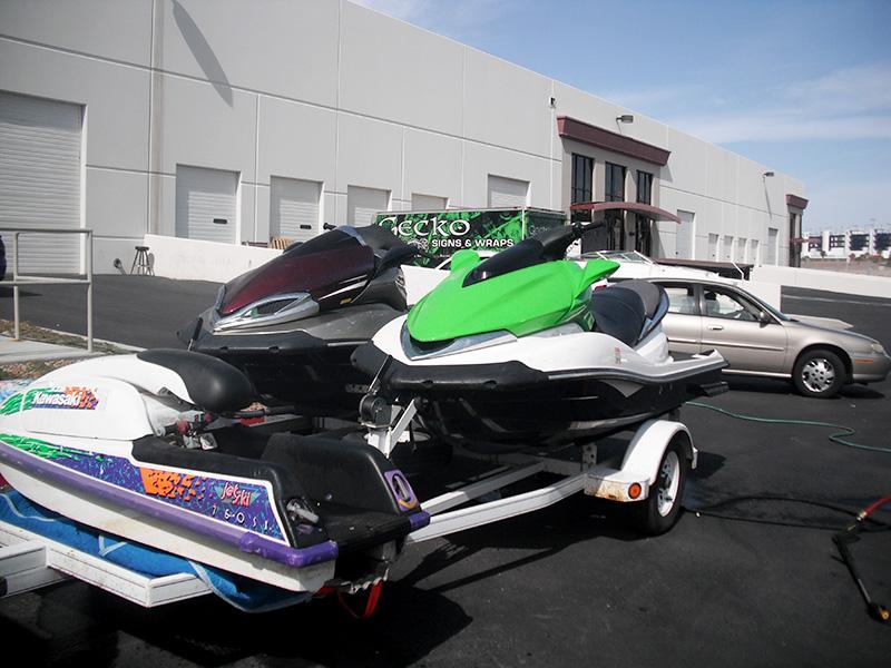 John Dickerson Boat Wrap in Las Vegas By GeckoWraps.com