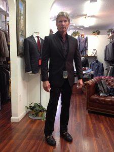 Custom Black Elegant Suit
