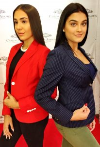 Blue Striped and Red Jackets