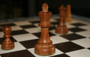 A chess board for ways to learn chess online