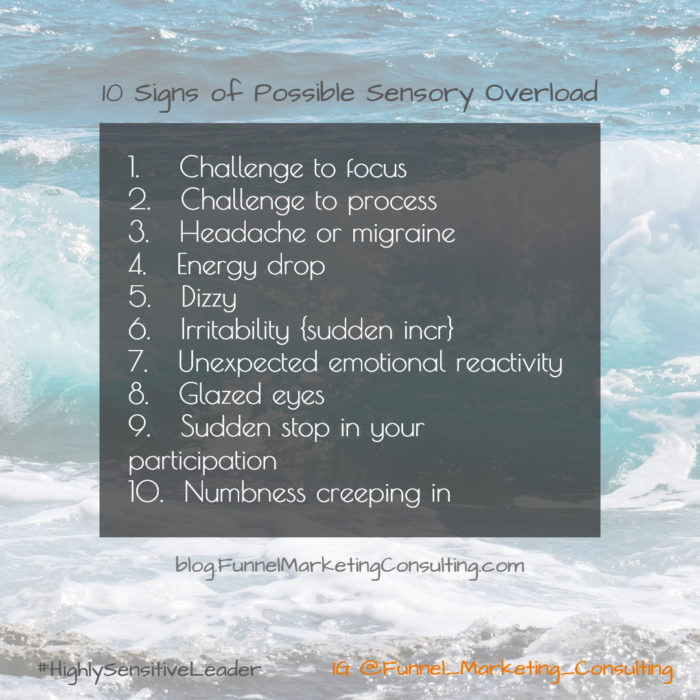 10 Signs of Possible Sensory Overload Funnel_Marketing_Consulting