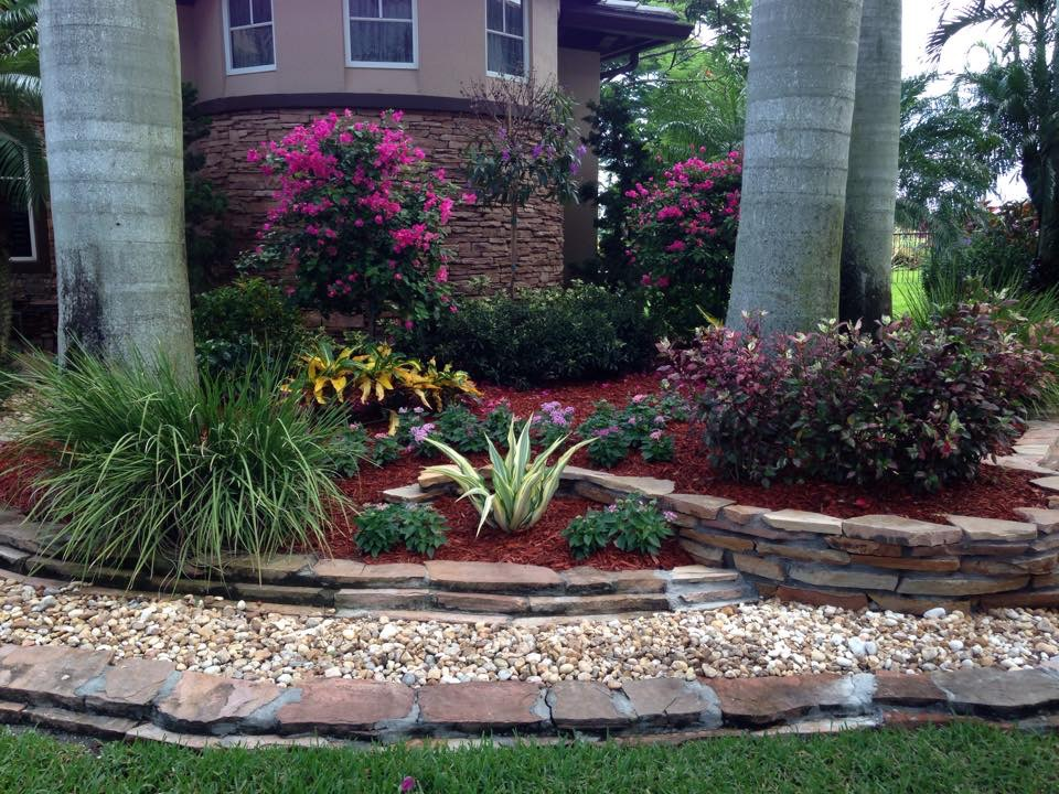 Viking landscape service on a home boca and coral springs fl surrounds