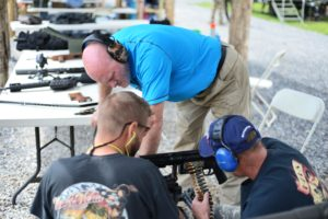 In blue shirt–Kevin T. Mabie, owner of Lost River Shoot. Photo Credit: Lost River Shoot/Rita Berger