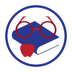 Glasses on book with apple (Tutoring Services)