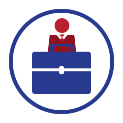 Businessperson with briefcase (Career Services)