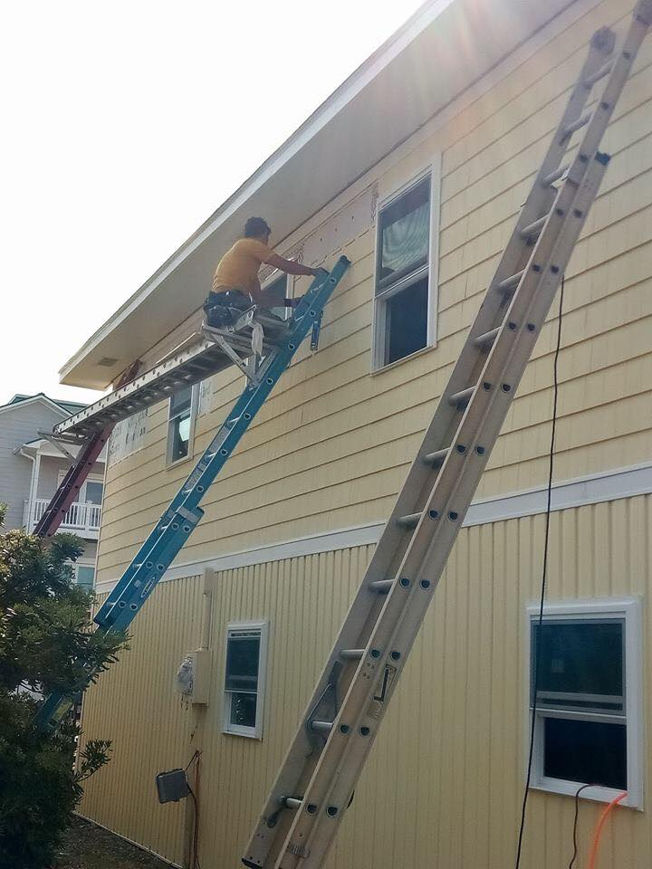 Siding replacement / painting - June 9, 2018