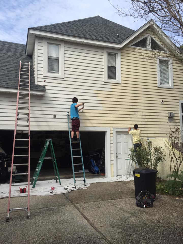 Exterior painting - March 14, 2020