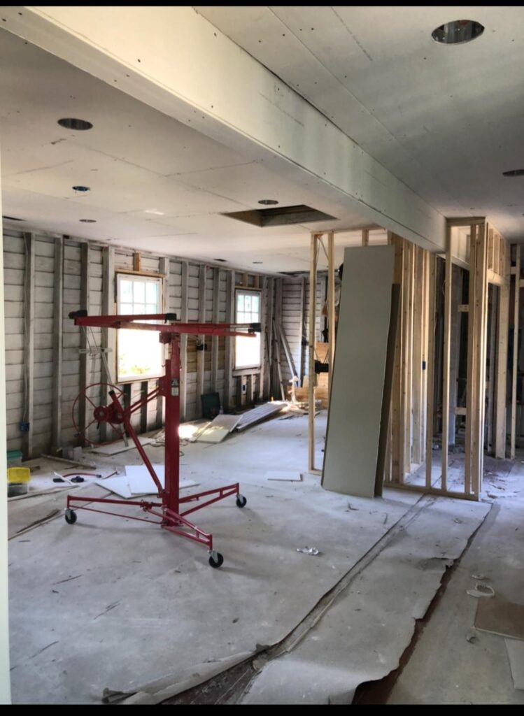 Drywall replacement and frame work - January 22, 2020