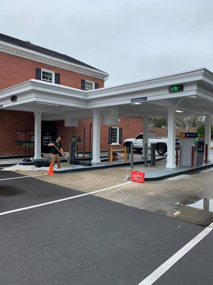 Painting PNC Bank drive-thru