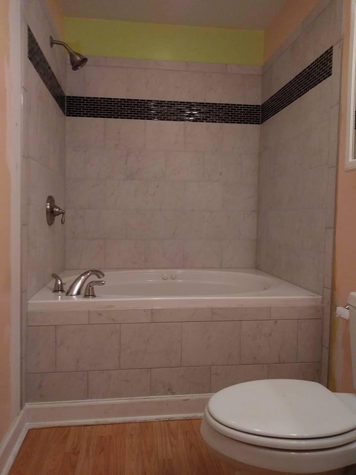 Indoor bathroom and tile remodeling