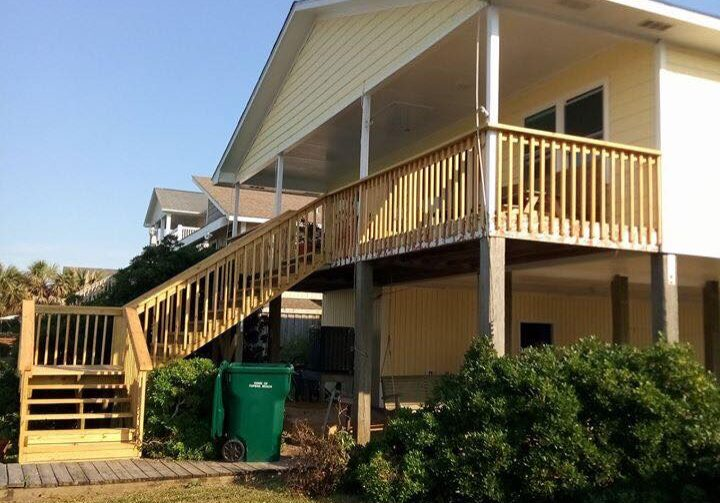 Deck and handrails - June 9, 2018